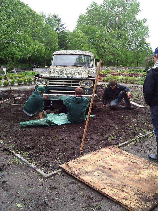 Placing the truck in the plot